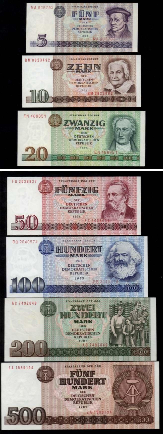 DDR-BANKNOTEN-5-500-MARK-1971-1985-KOMPLETT-UNC-ROS
