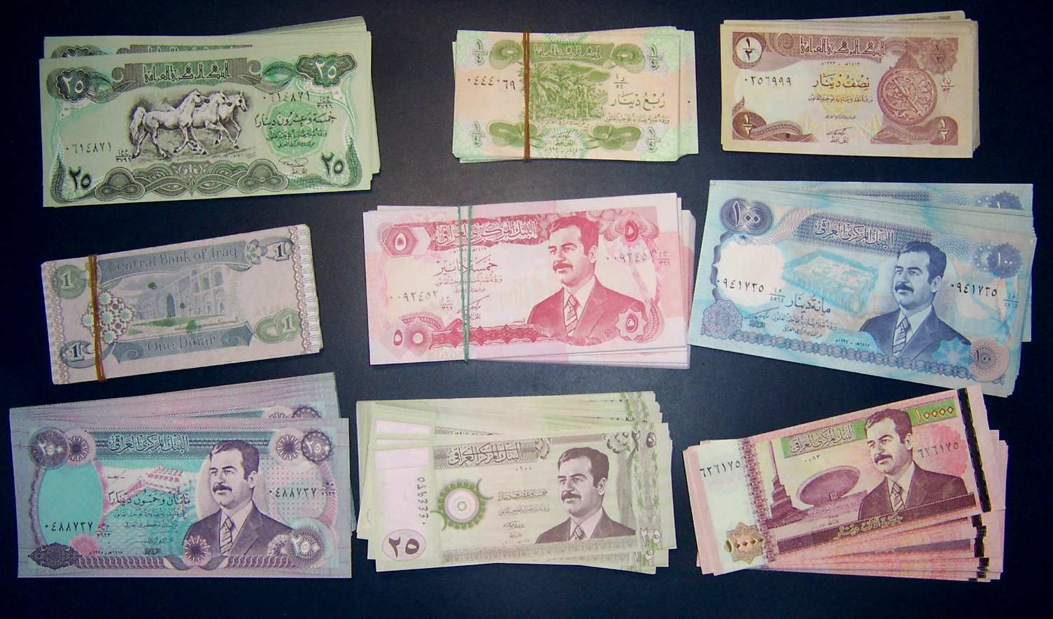 225-STUCK-HANDLERLOT-IRAK-DEALER-S-LOT-IRAQI-DINARS
